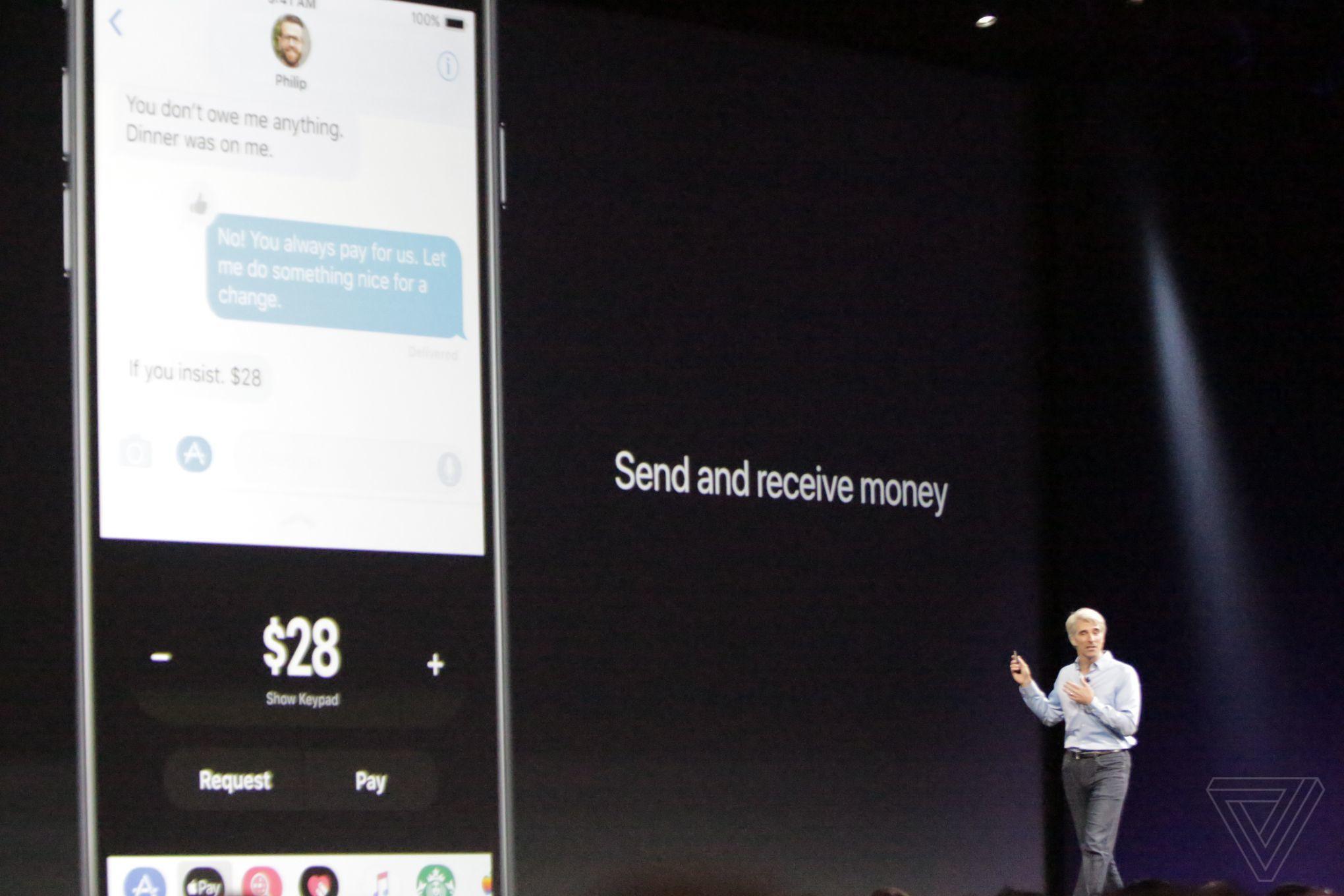 iOS 11 mesaje apple pay
