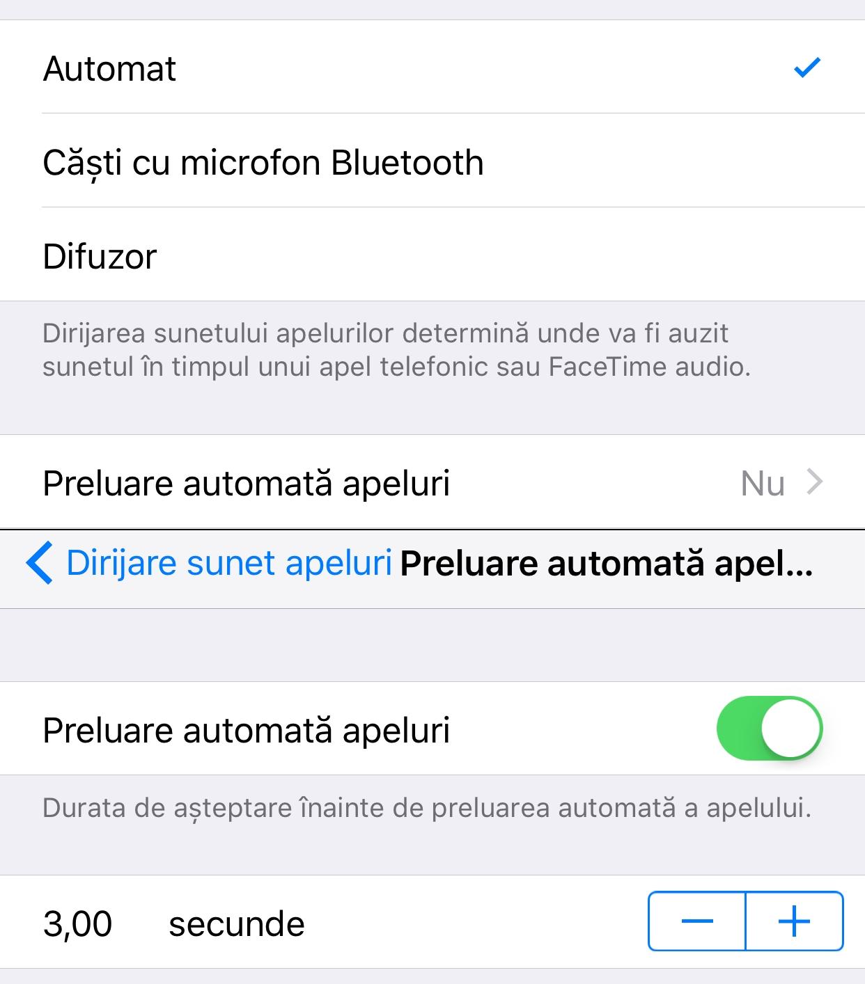 iOS 11 raspuns automat apeluri iPhone