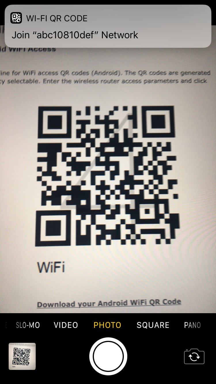 iOS 11 scanare cod QR camera iPhone