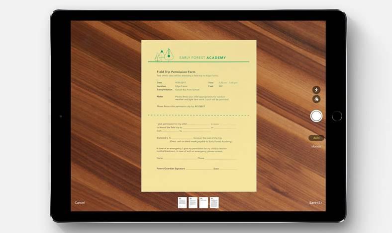 iOS 11 scanare documente