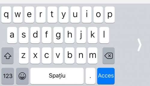 iOS 11 tastatura singura mana iPhone
