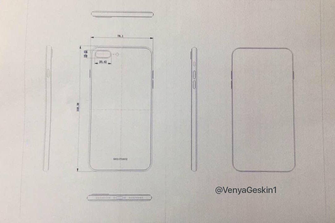 iPhone 7S Plus schita productie
