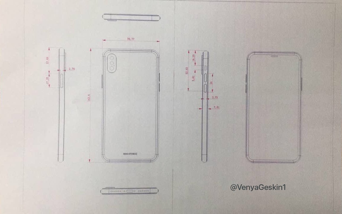 iPhone 8 schita design final