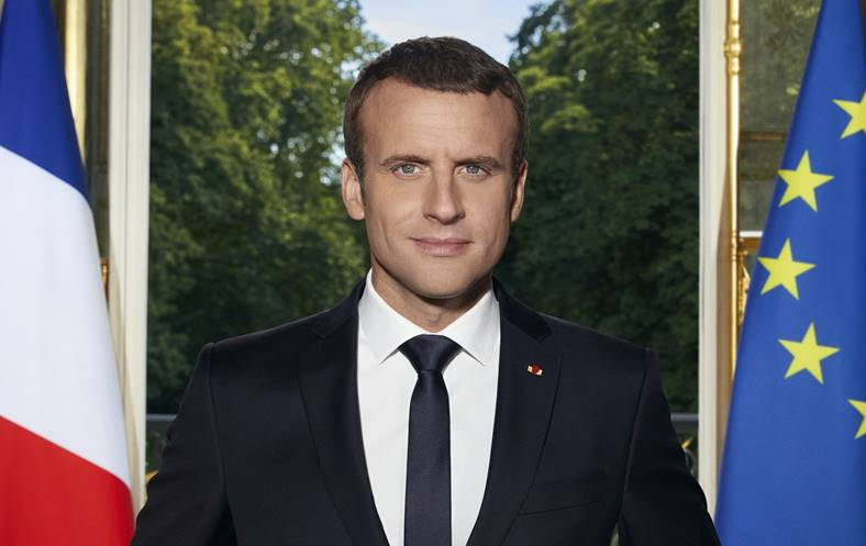 iPhone portret prezidential emmanuel macron