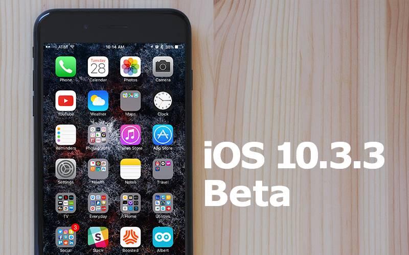 ios 10.3.3 beta 4 performante