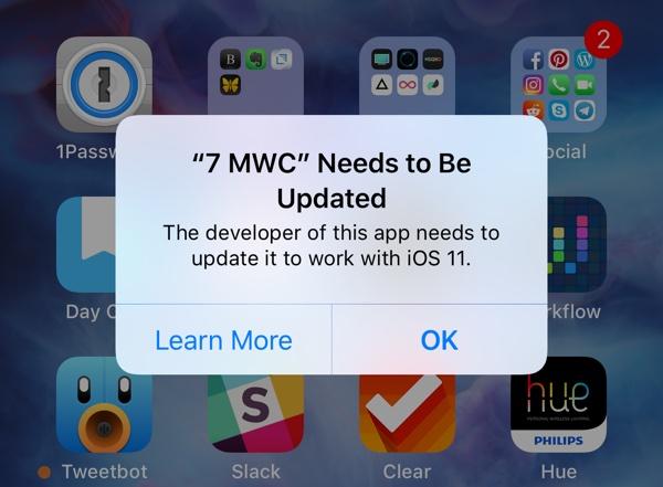 ios 11 aplicatii blocate