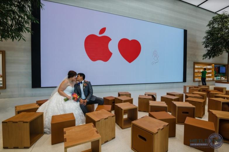 poze nunta apple store 2