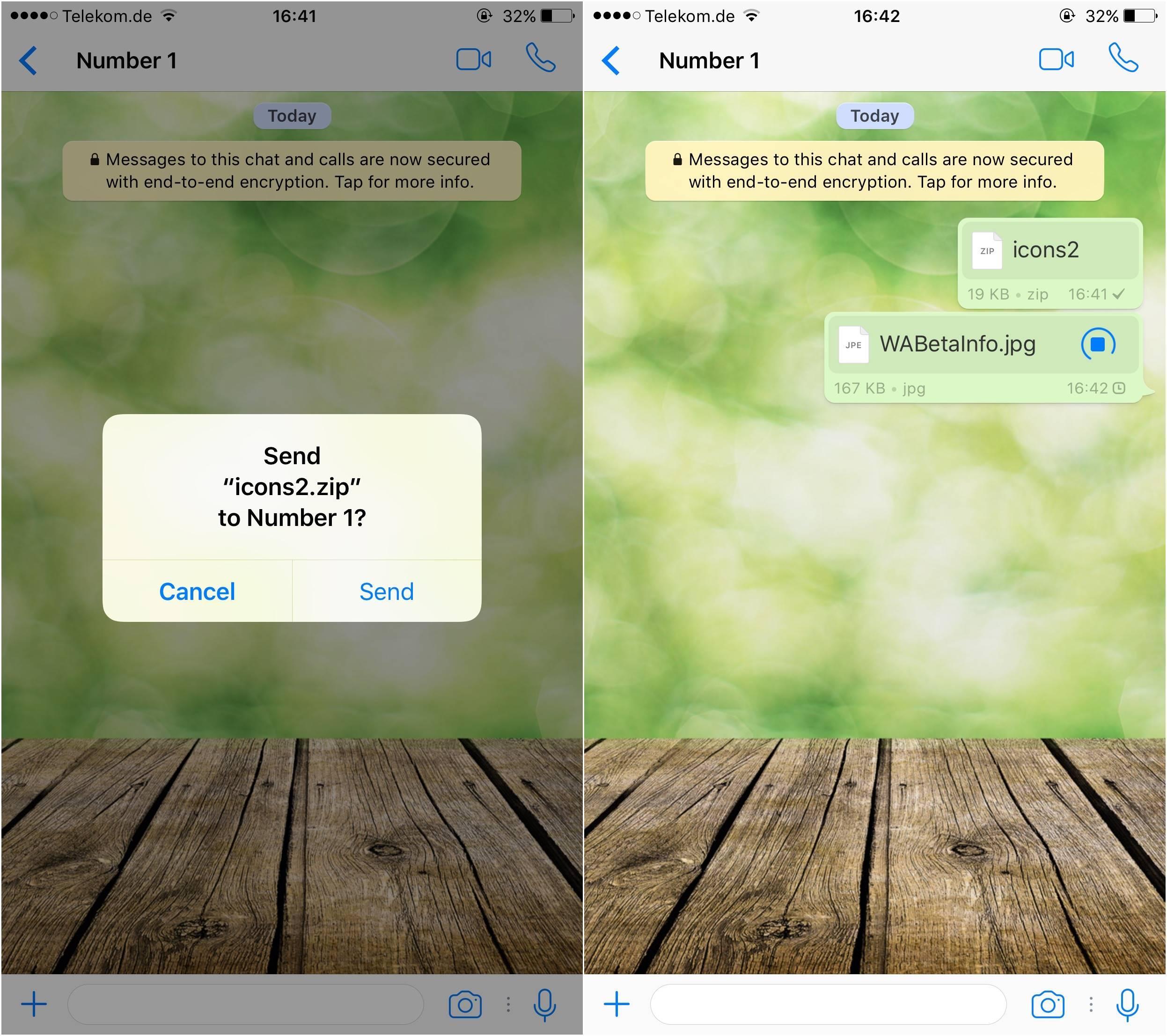 whatsapp trimite fisiere iphone 1