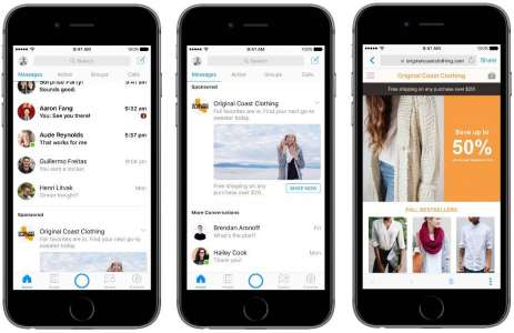 Facebook messenger reclame aplicatie