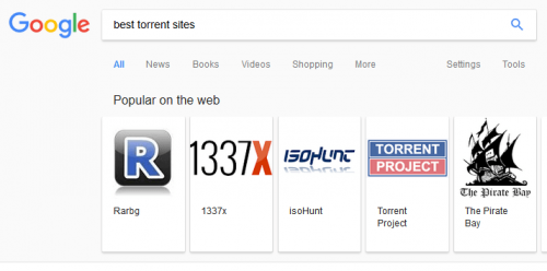 Google promovare torrente