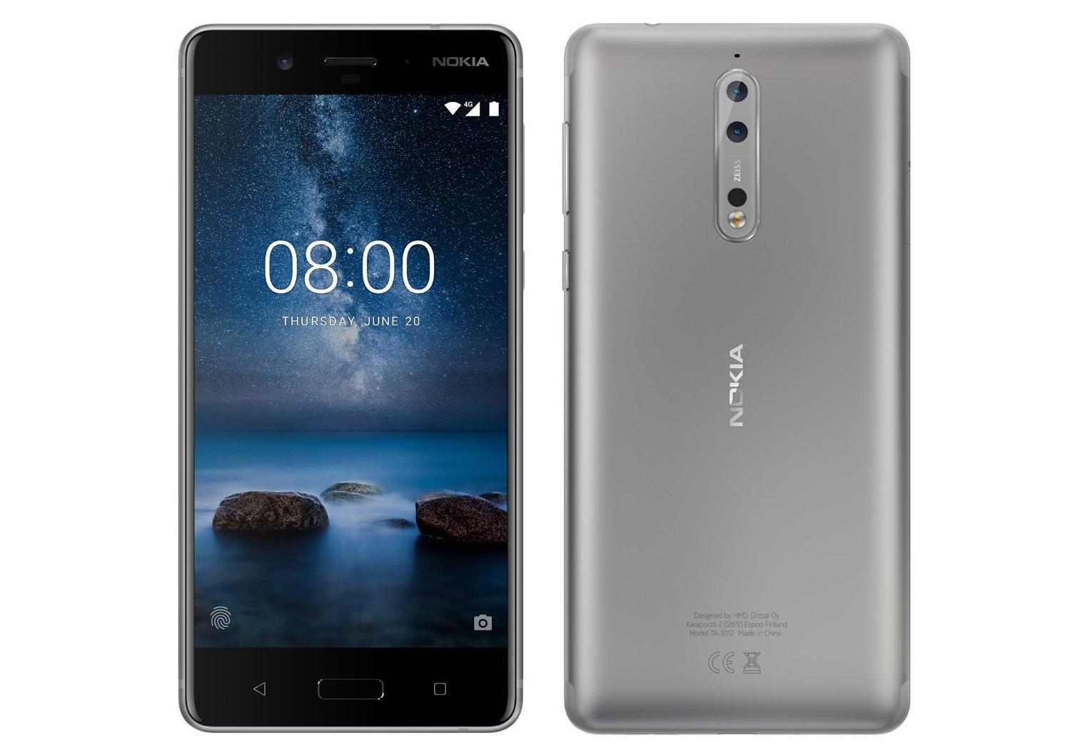 Nokia 8 listat website argintiu