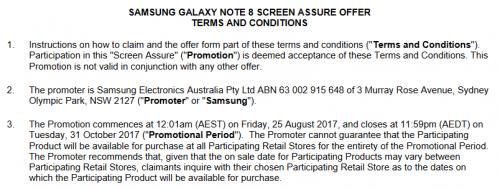 Samsung Galaxy Note 8 data lansare oficiala australia