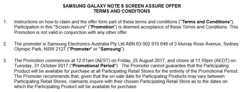 Samsung Galaxy Note 8 data lansare oficiala