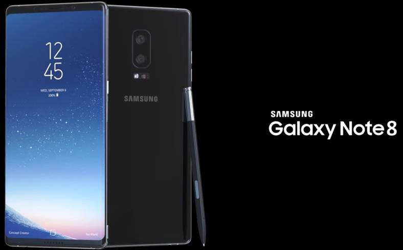 Samsung Galaxy Note 8 ecran 4k