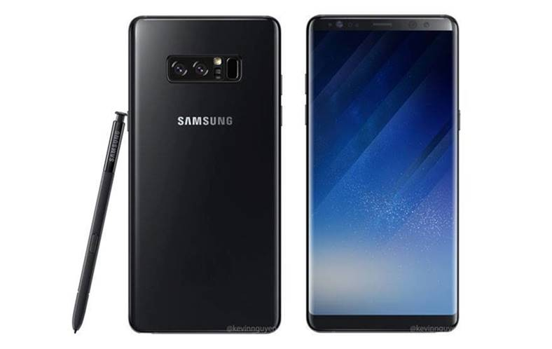 Samsung Galaxy Note 8 unitate reala prima imagine