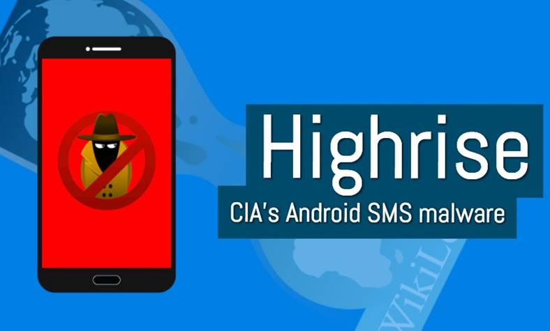 cia highrise malware android sms