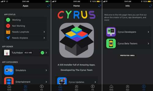 cyrus installer tweak iphone jailbreak