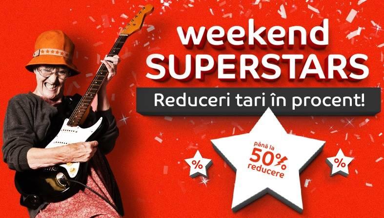 eMAG - 8 iulie, Mii Reduceri Weekend Superstars