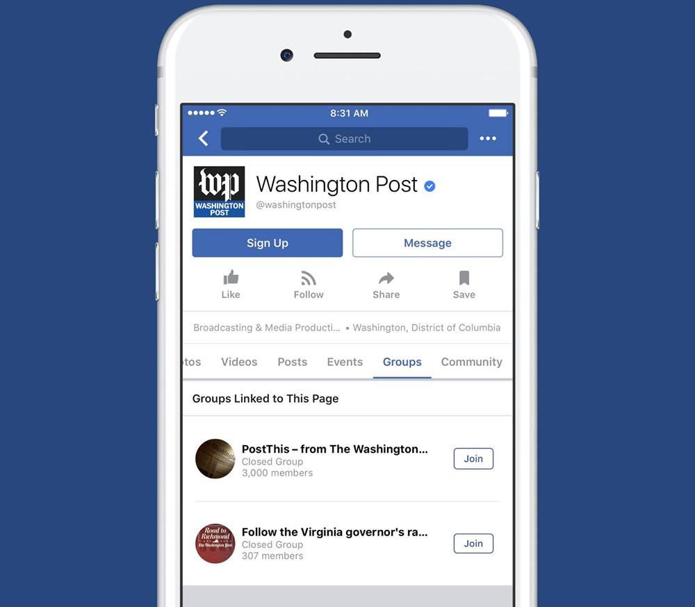 facebook functii lansate grupuri