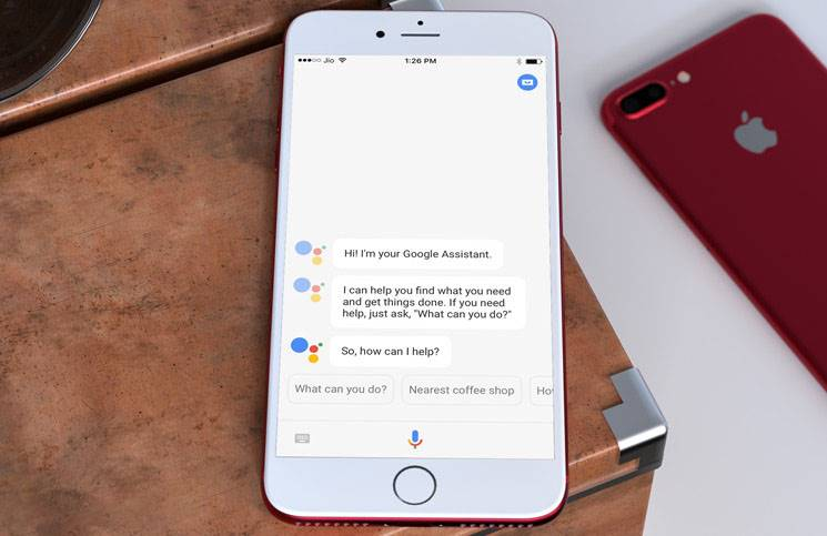 google assistant succes iphone
