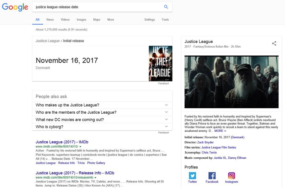 google schimbarea majora search