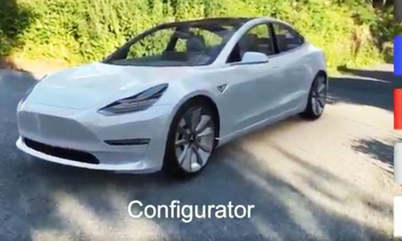 ios 11 arkit tesla model 3