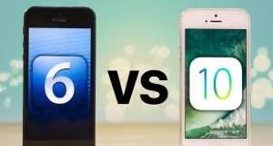 iphone 5 ios 6 comparatie ios 10