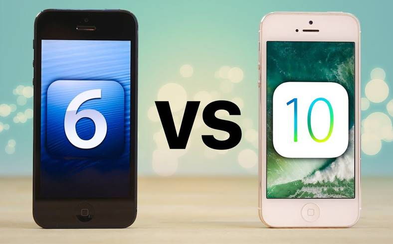 iphone 5 ios 6 comparatie ios 10