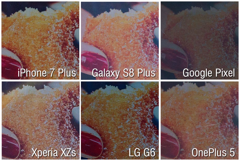 iphone 7 galaxy s8 oneplus 5 comparatie ecrane 2