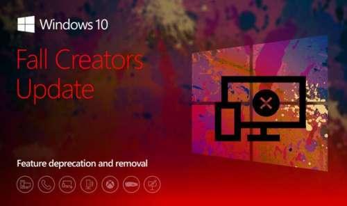 Windows 10 – Functii Eliminate din Fall Creators Update