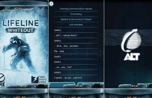 Lifeline Whiteout o Aplicatie Promovata Apple, oferita Reducere