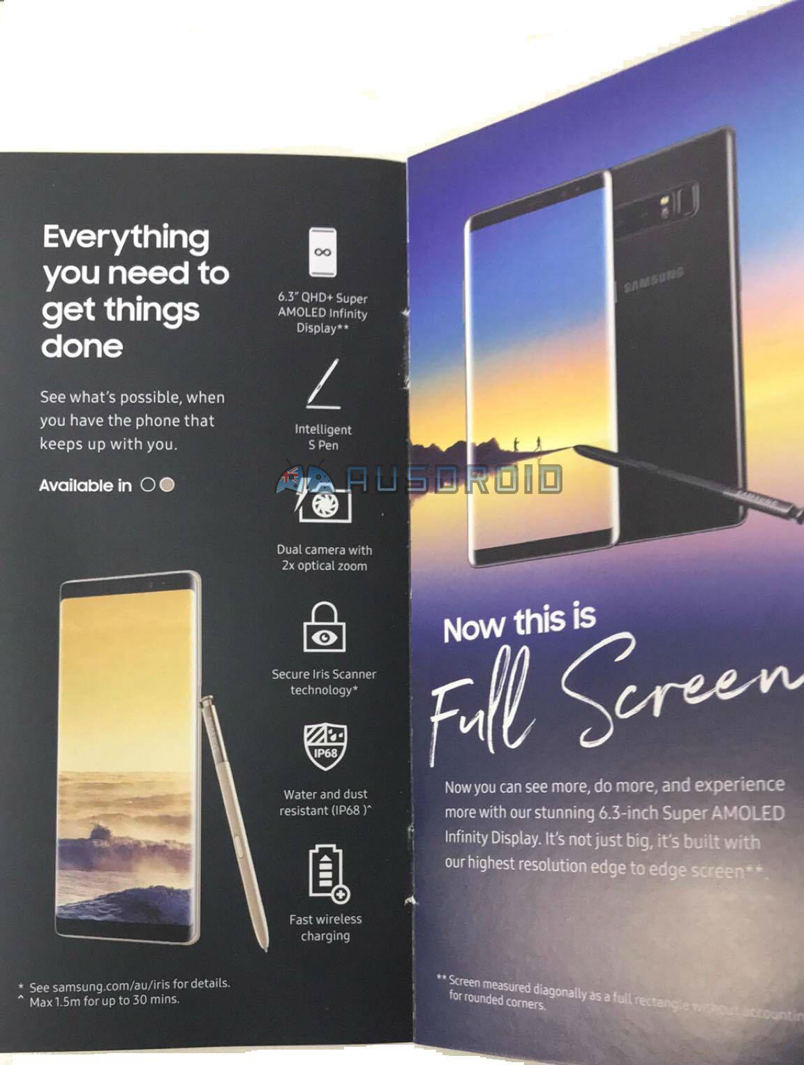 Samsung Galaxy Note 8 Functii Dezvaluite Material Promotional
