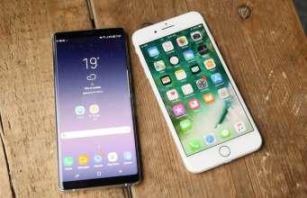 Samsung Galaxy Note 8 comparati iPhone 7 Plus