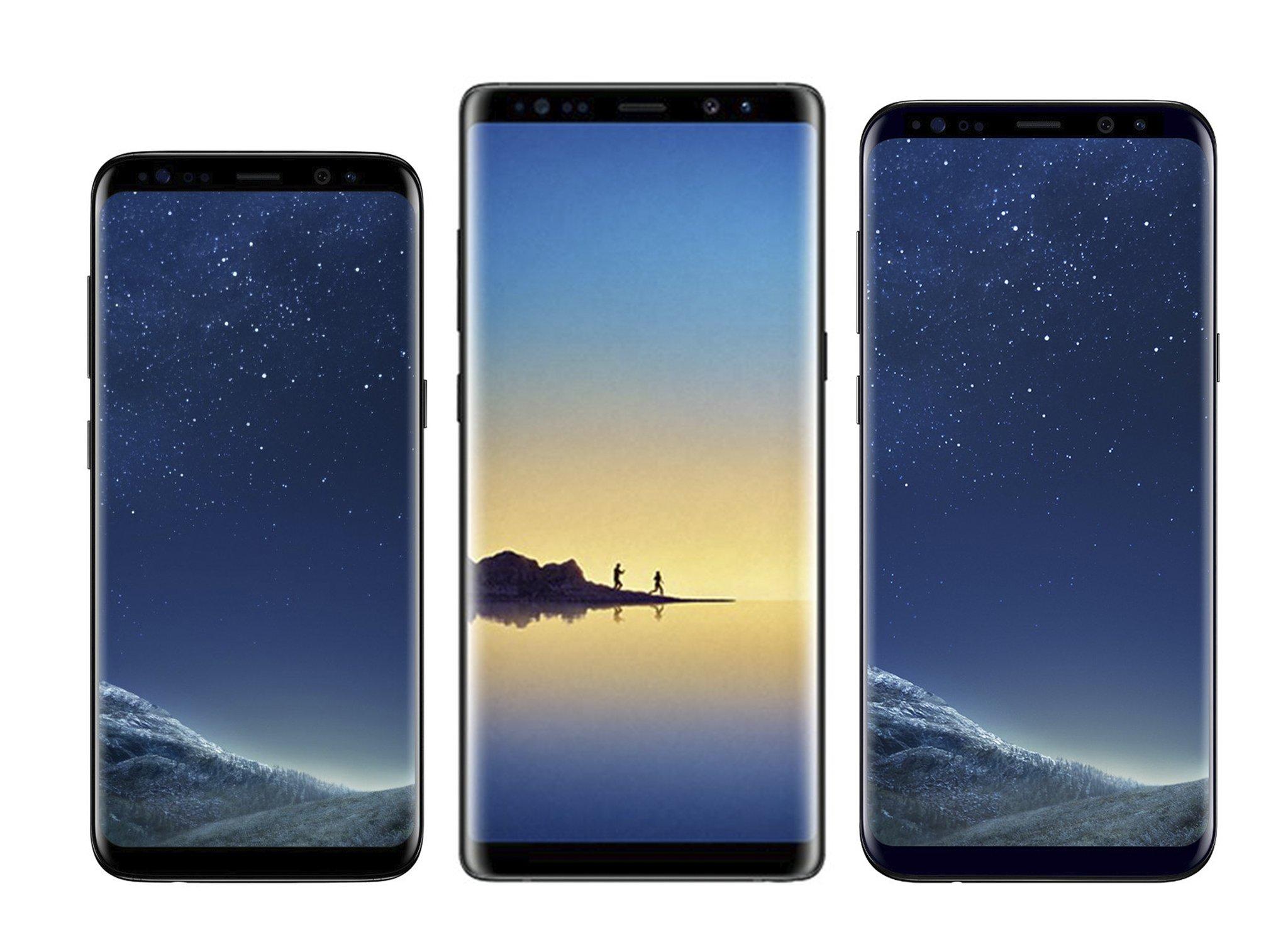 Samsung Galaxy Note 8 comparatie Galaxy S8