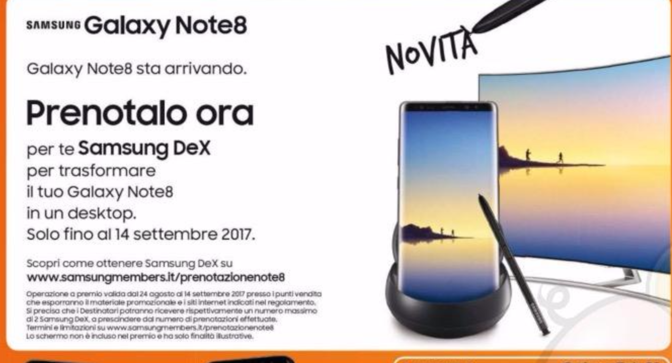 Samsung Galaxy Note 8 lansare data