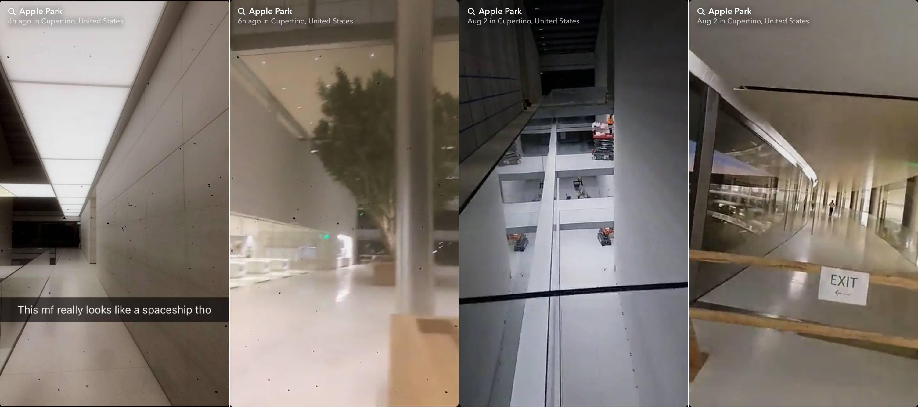 apple park video interiorul uimitor