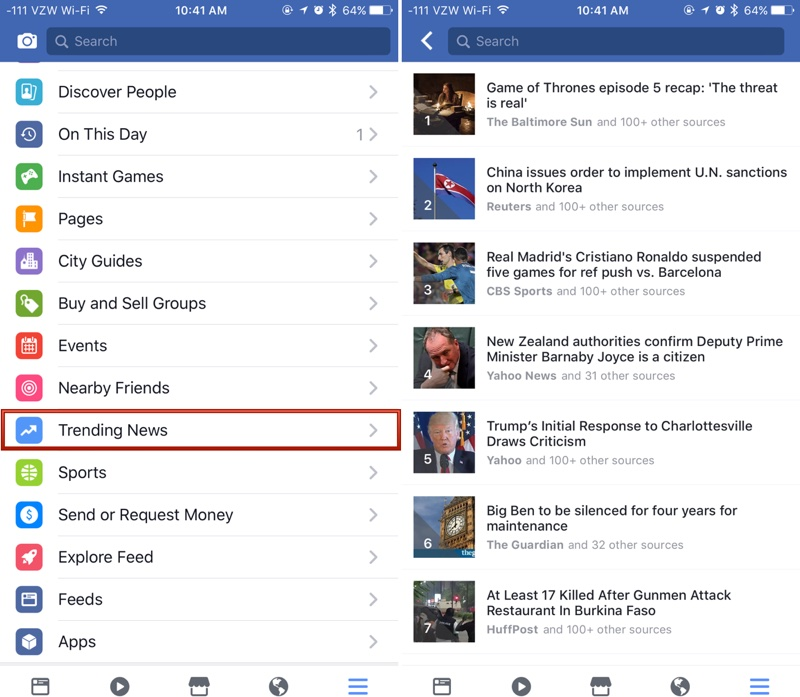 facebook functie extrem importanta