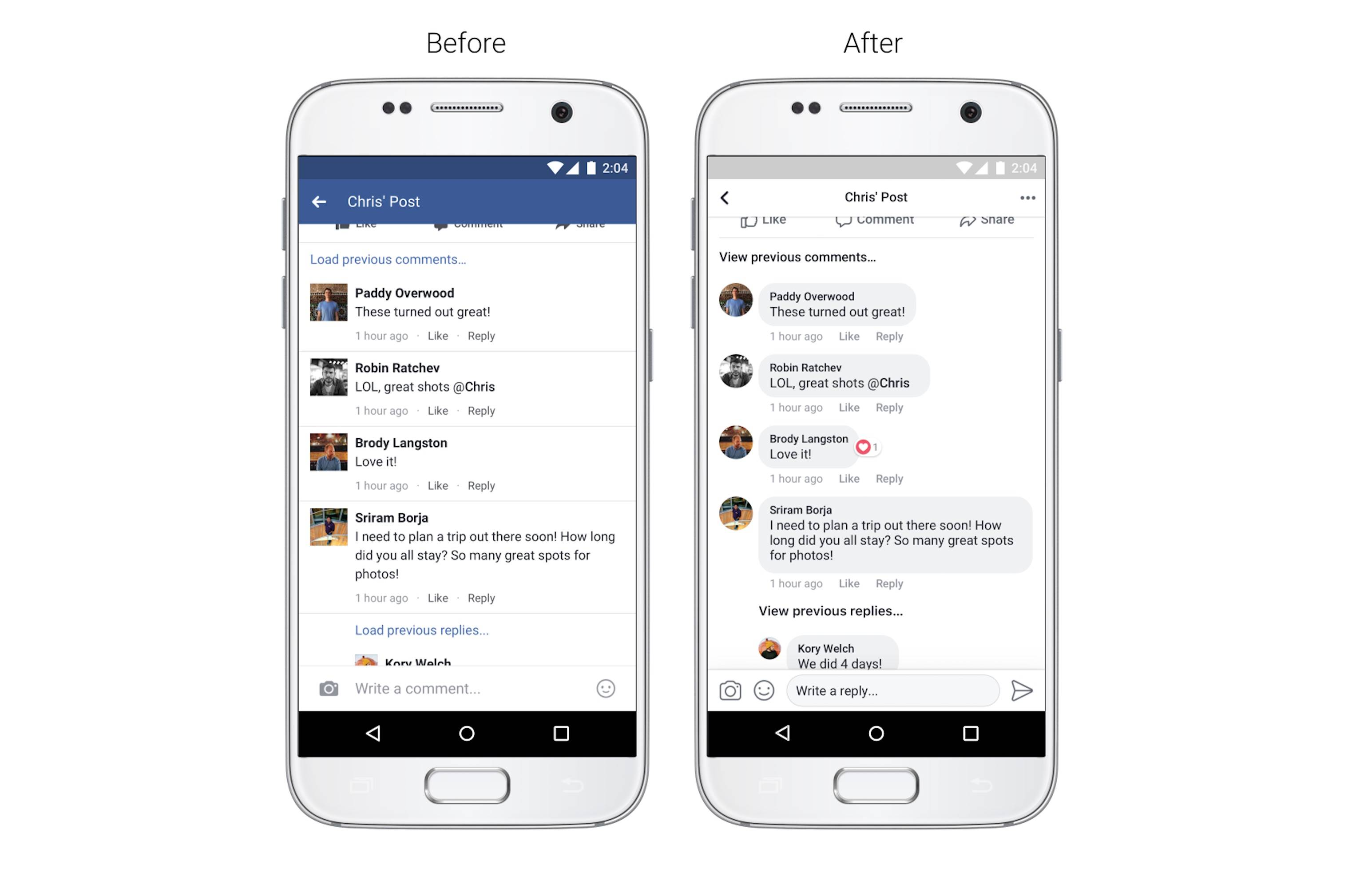facebook interfata aplicatie iphone android 1