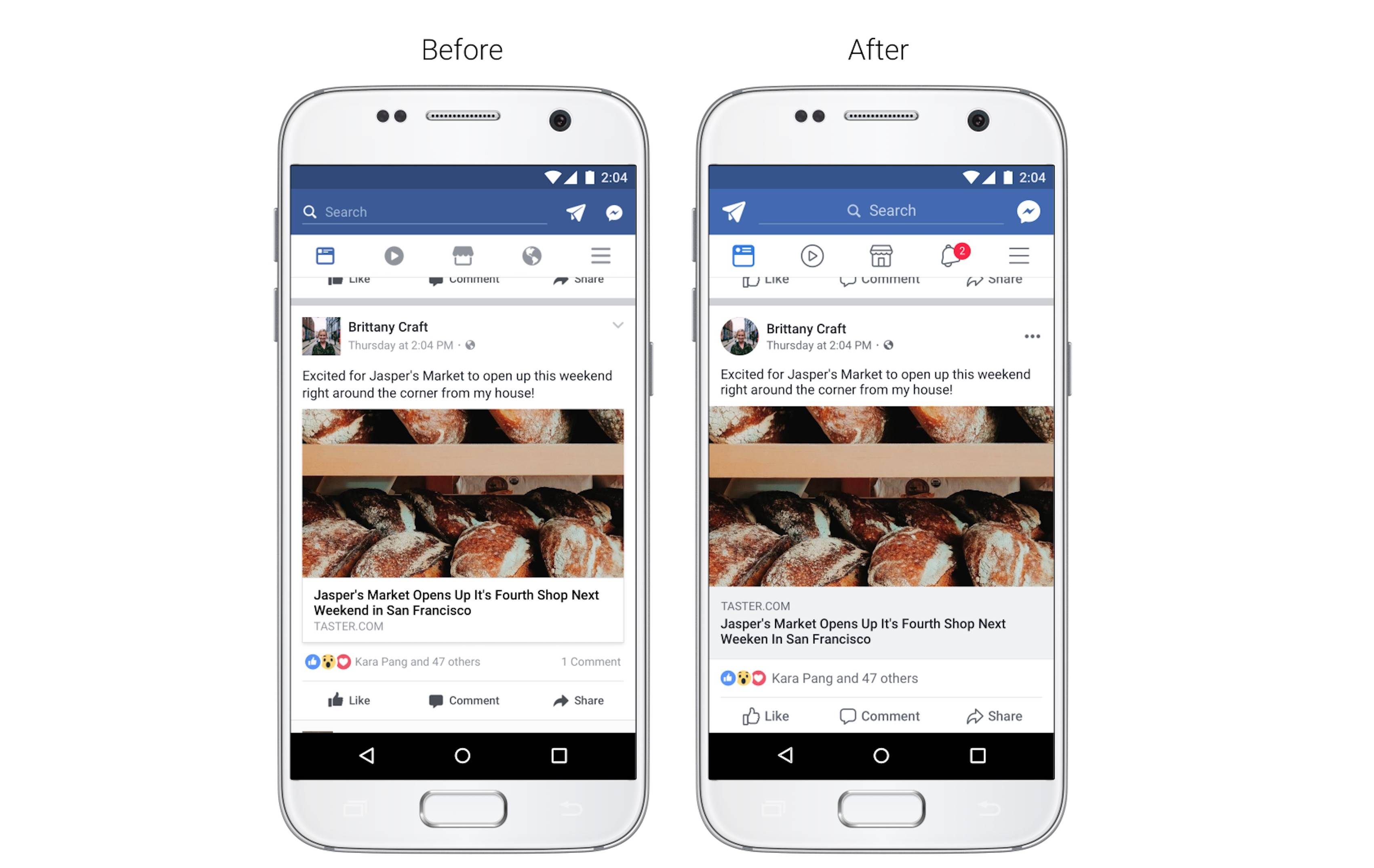 facebook interfata aplicatie iphone android