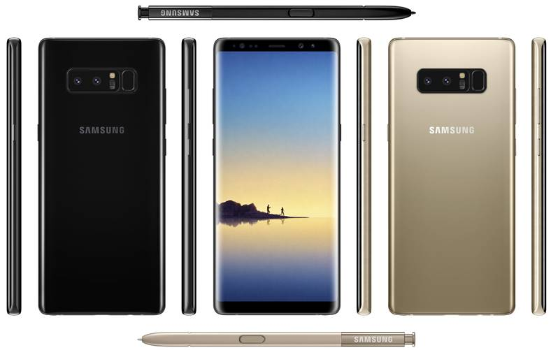 samsung galaxy note 8 comparatie iphone 7 plus