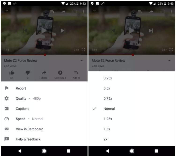 youtube functie iphone android