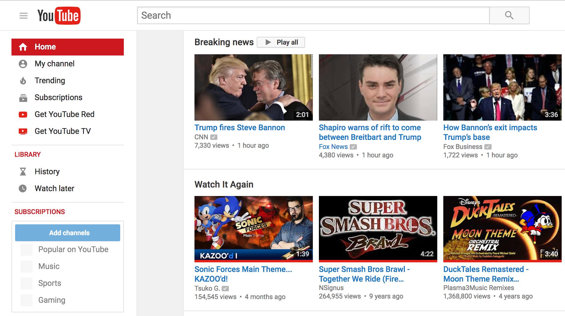 youtube sectiune importanta