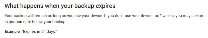 Google Sterge Alerte Backup Android