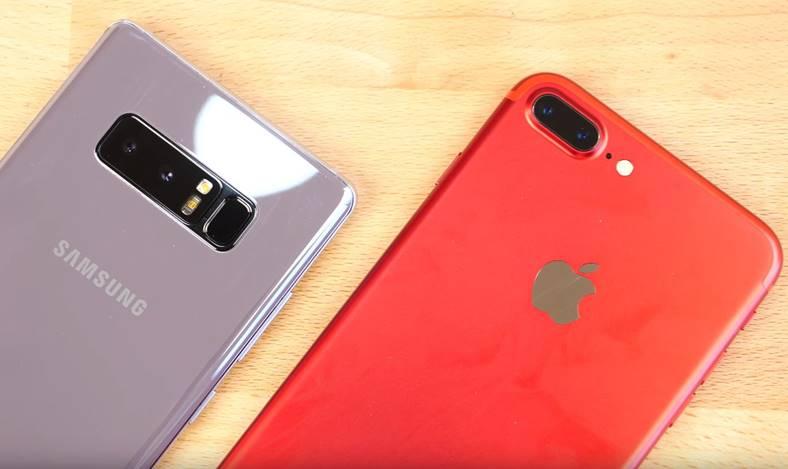 Samsung Galaxy Note 8 iPhone 7 Plus Comparatia Camere
