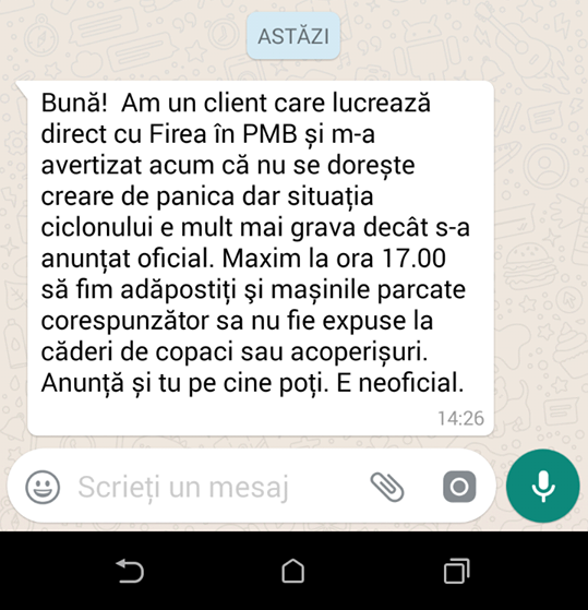 WhatsApp Facebook Manipularea Furtuna