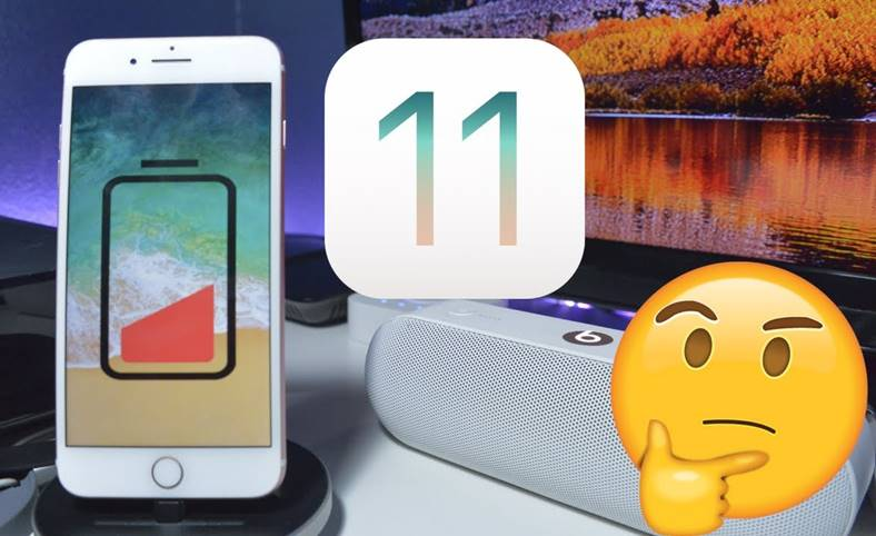 iOS 11 Autonomia Bateriei iPhone iPad