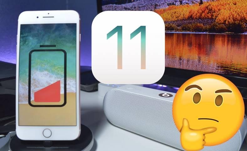 iOS 11 Autonomia Bateriei iPhone iPad