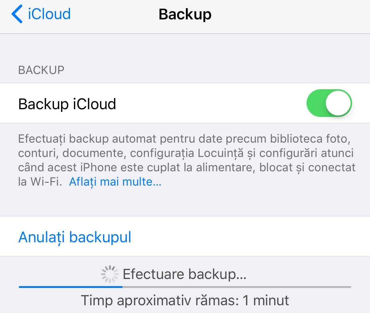 iOS 11 backup icloud