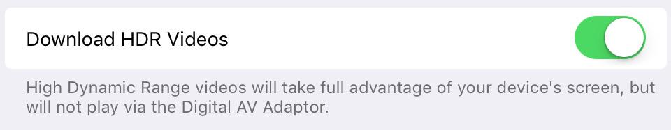 iOS 11 filme HDR iPad Pro