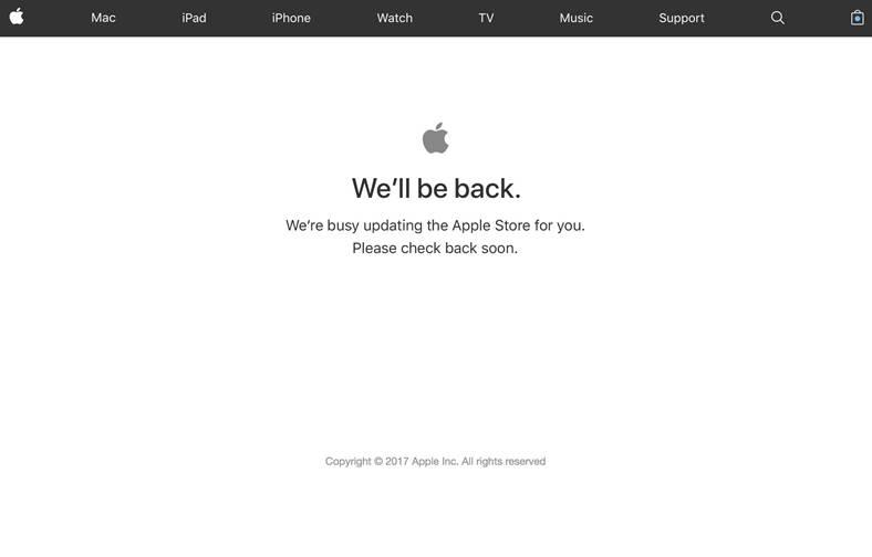 iPhone 8 Apple Store Inchis Precomenzi